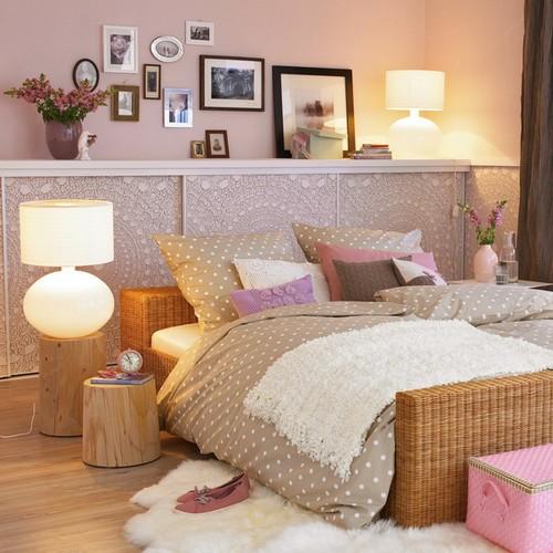Полки над кроватью фото