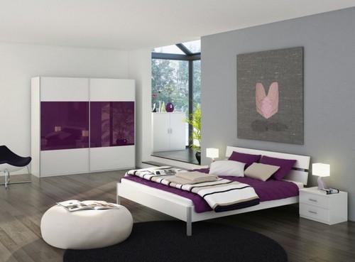 Серый цвет в интерьере спальни фото