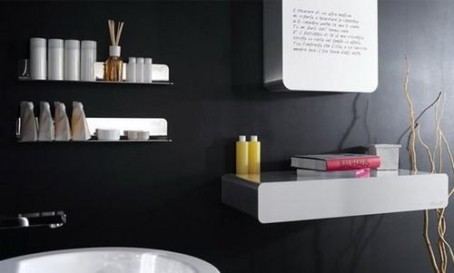 Мебель для черной ванной комнаты фото