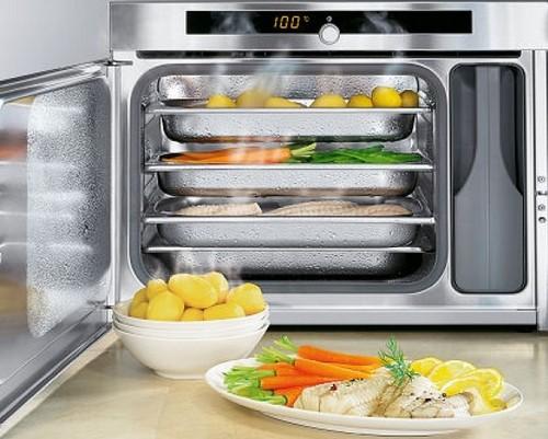 Микроволновая печь с пароваркой