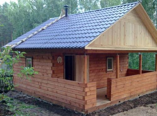 Строительство бани на даче своими руками