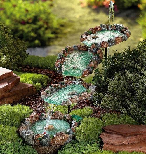 Декоративные фонтаны для дачи и сада фото