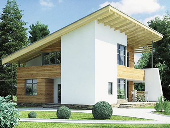 Дома с односкатной крышей фото