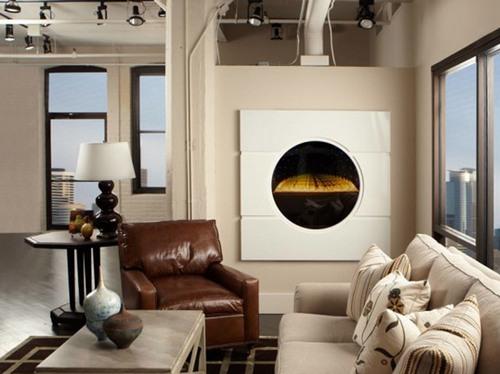 Газовый камин в современной квартире