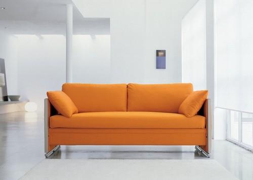 Диван-кушетка оранжевого цвета