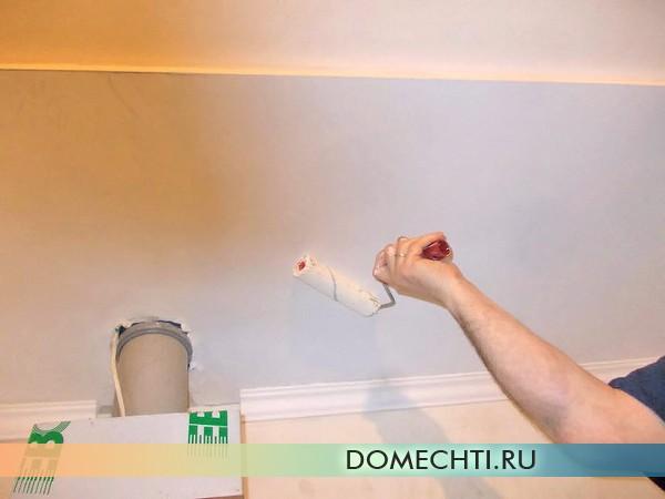 Как покрасить гипсокартонный потолок водоэмульсионной краской