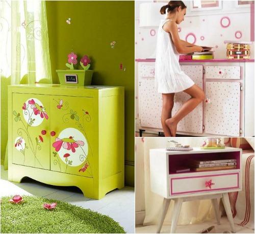 Идеи украшения мебели для детской