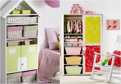 Идеи для хранения вещей в детской
