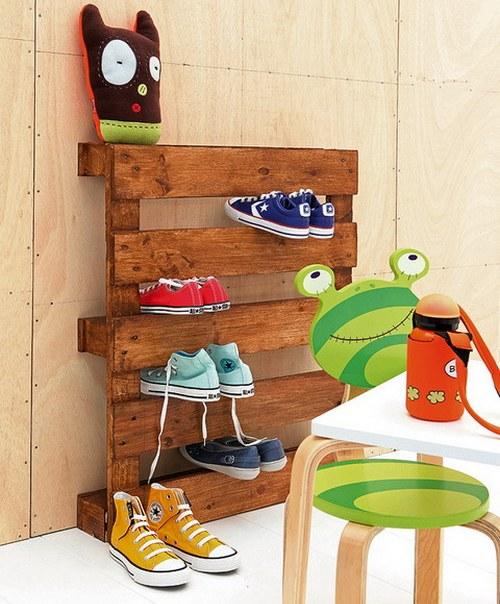 Подставка для обуви своими руками - креативная идея для детской