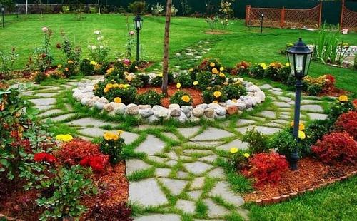Декор садовых дорожек
