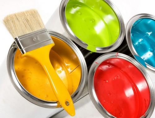 Колеруем краску для обоев