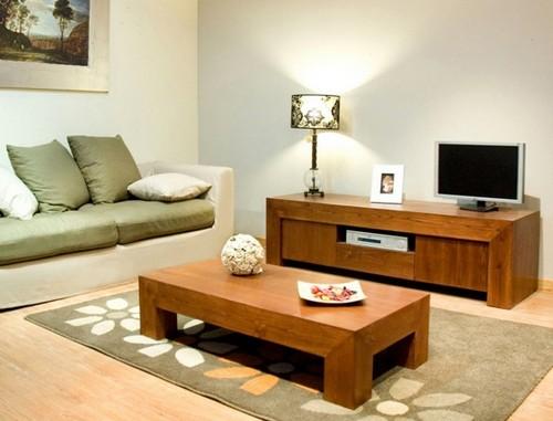 Мебель для гостиной из натурального дерева фото