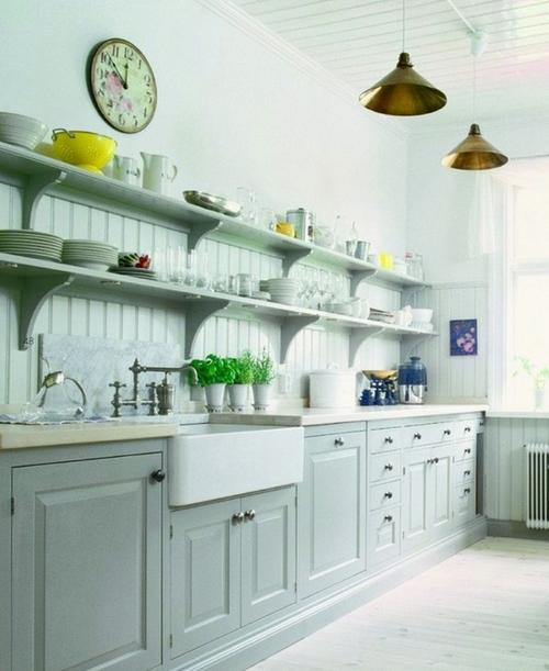 Светлая и чистая кухня поможет похудеть