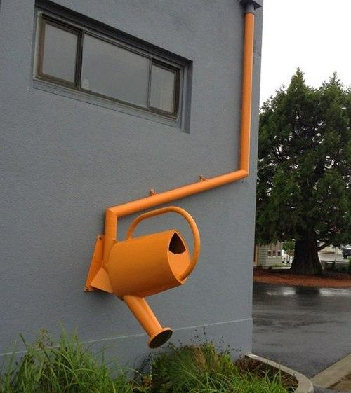 Креативный водосток для крыши