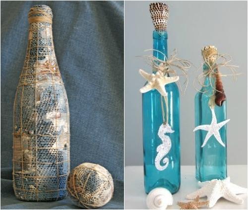бутылка в морском стиле