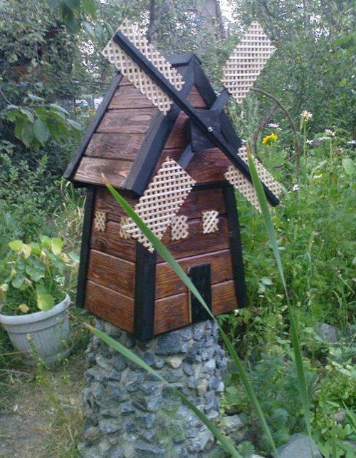Мельница для дачи своими руками из дерева