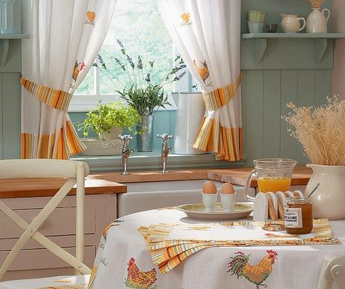 Текстиль в интерьере кухни