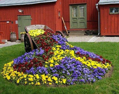 Цветы в саду дизайн своими руками