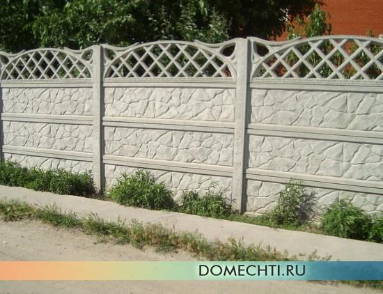 Декоративный забор из бетона