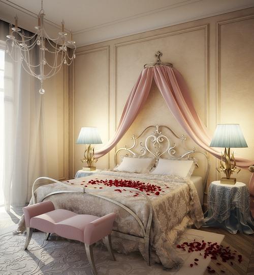 Как украсить спальню для романтического вечера