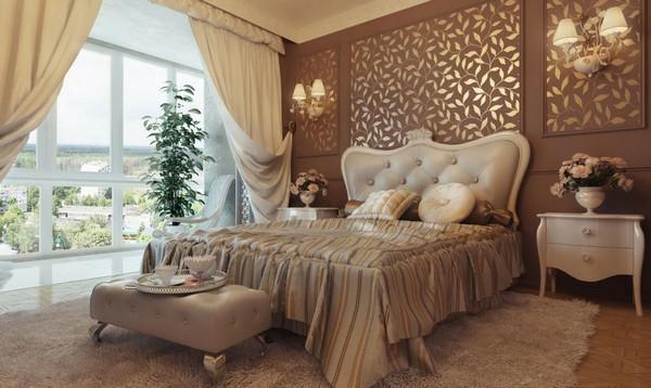 Роскошная спальня в классическом стиле фото