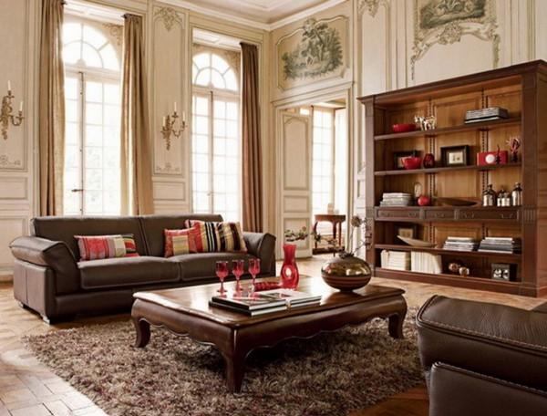 Красивый интерьер гостиной в классическом стиле