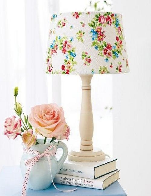Летний декор настольной лампы