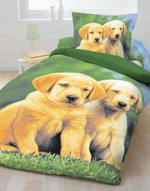 Детское постельное белье 3Д с собачками