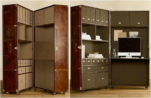 Шкаф-чемодан с рабочим местом