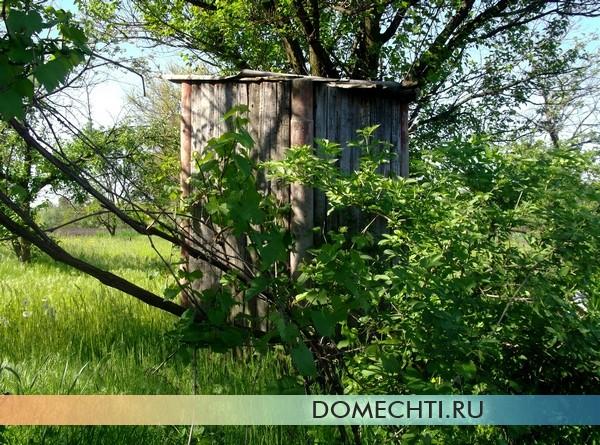 Простой деревянный туалет для дачи фото