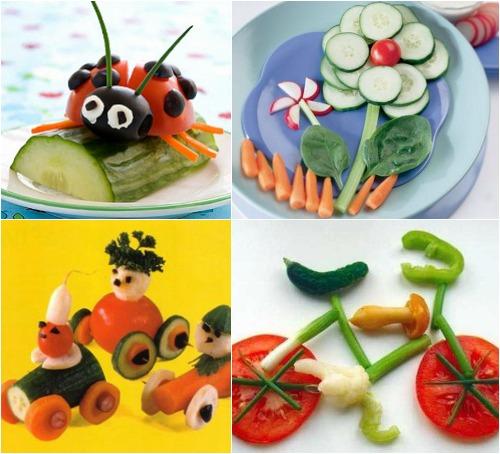 Овощные фантазии для детского стола