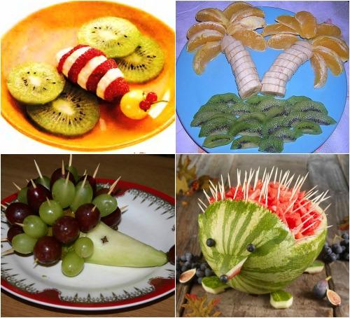 Фруктово-ягодные фантазии для детского стола