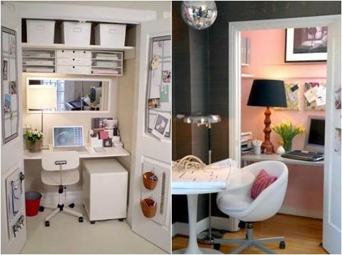 Как обустроить домашний кабинет в кладовке