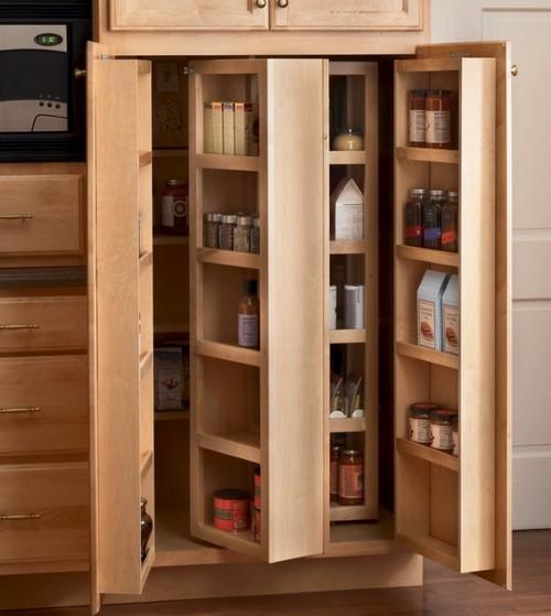 Мини-кладовка на кухне фото
