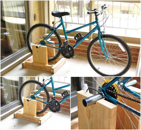 Как сделать тренажер из велосипеда самому