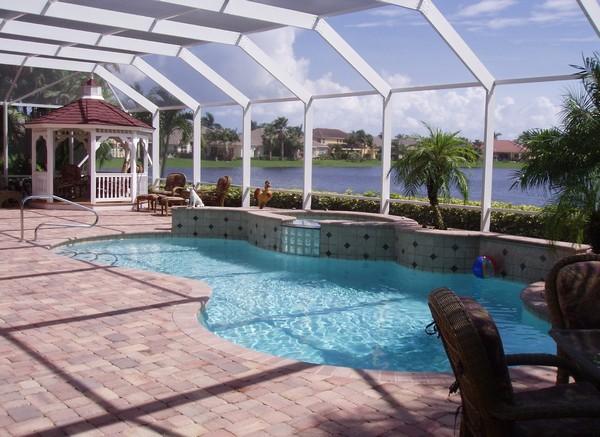 Красивые павльоны для бассейнов фото
