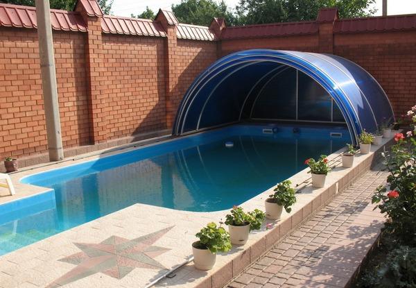 Павильон телескопический для бассейна