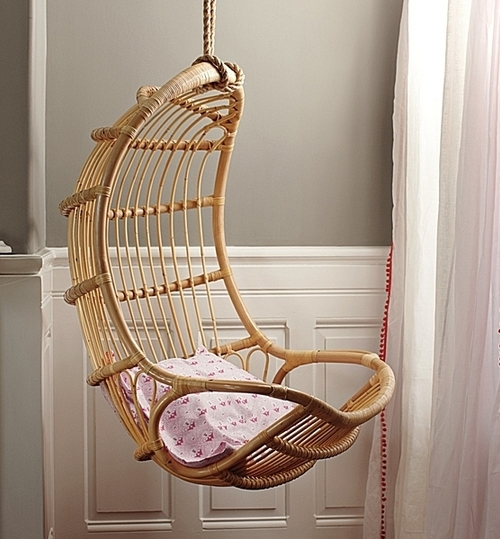 Кресло плетеное подвесное фото