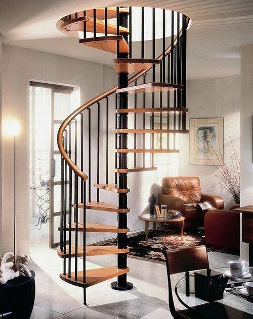 Красивые винтовые лестницы фото