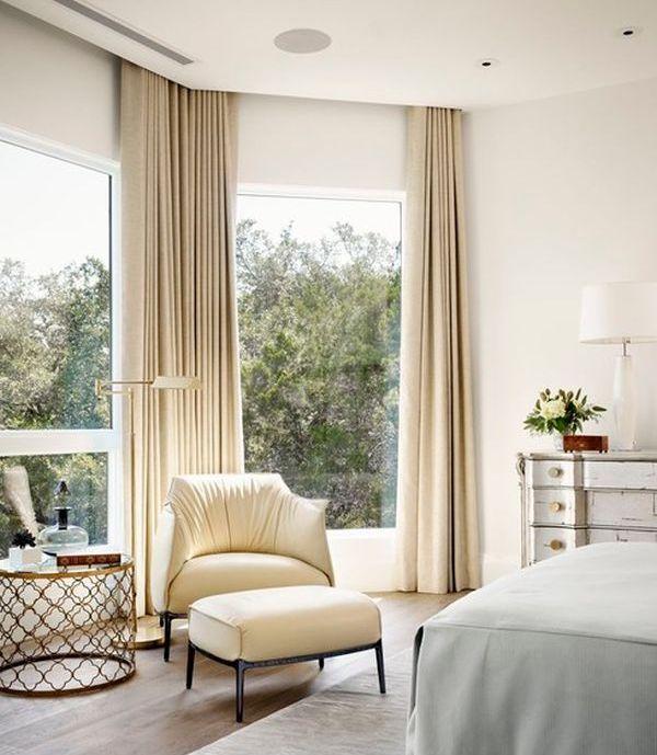 Шторы на большие окна для спальни фото