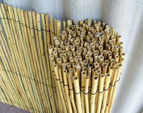 Бамбуковый камыш для декорирования забора из рабицы
