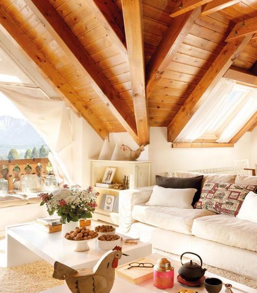Интерьер дома шале в горах