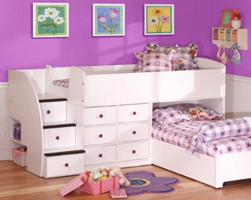 Детская мебель со встроенными ящиками для игрушек