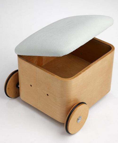 Детский пуфик с ящиком для игрушек