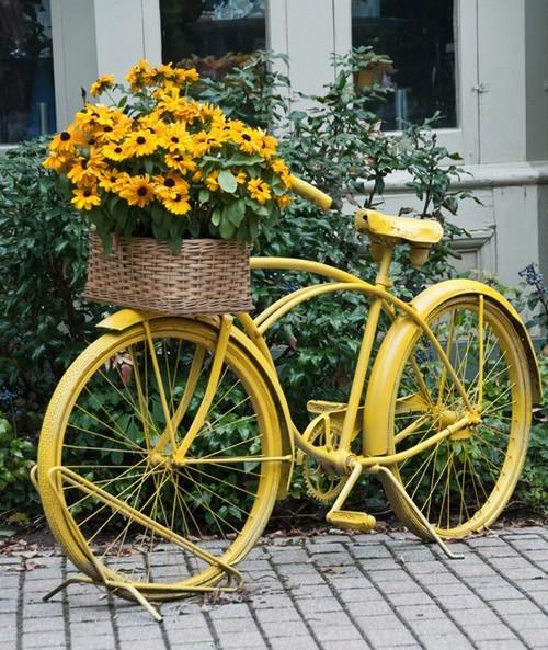велосипед под цветы