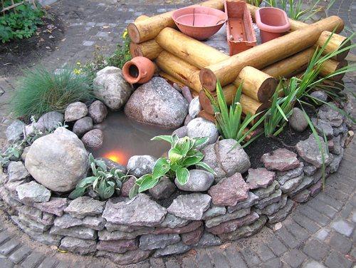 Идеи для украшения дачи из камней
