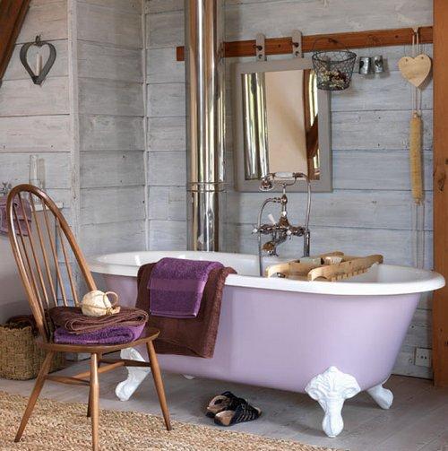 Сельский стиль в интерьере ванной комнаты
