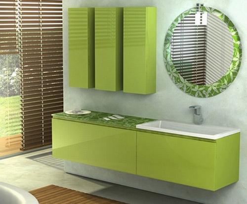 фисташковая ванная комната