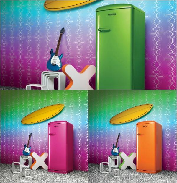 Цветные холодильники Gorenje Retro Funky