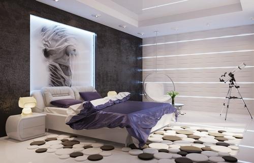 Необычные коврики возле кровати фото